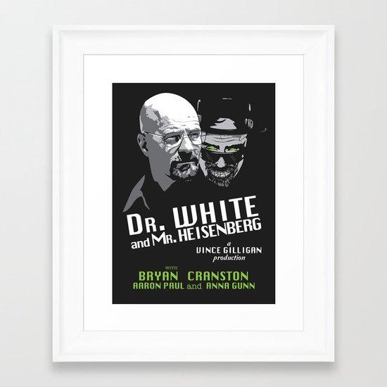 Dr. White and Mr. Heisenberg Framed Art Print