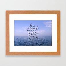 Entire Ocean In A Drop Framed Art Print