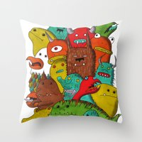 Mile-End Monsters Throw Pillow