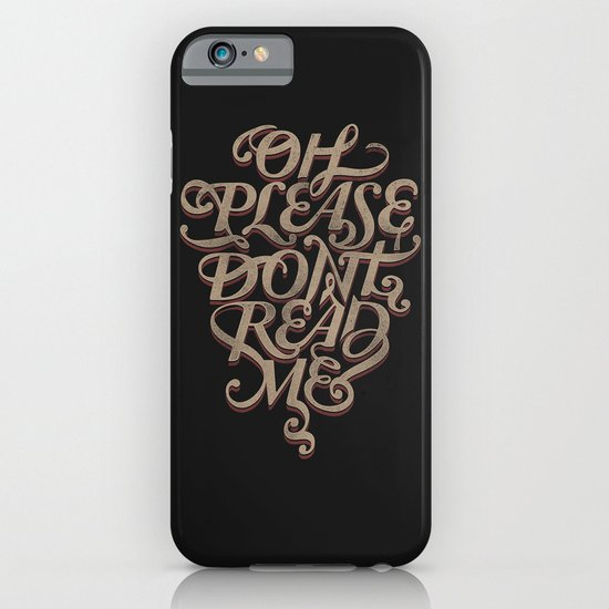 Please Don't iPhone & iPod Case