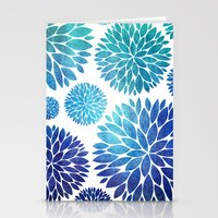 Ocean Flowers Watercolor Stationery Cards