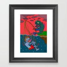 Fishin' time! Framed Art Print