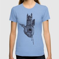 The Heart of The City Womens Fitted Tee Athletic Blue SMALL