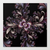 Feather flowers Canvas Print