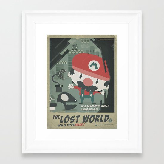mario bros 4 fan art Framed Art Print