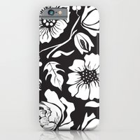 Black Russian Floral iPhone 6 Slim Case