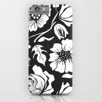 Black Russian Floral iPhone 6 Slim Case