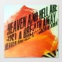 HEAVEN & HELL 2 Canvas Print