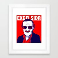 Stan Lee / Excelsior Framed Art Print