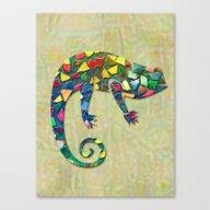 Animal Mosaic - The Cham… Canvas Print