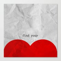 find your half (1 of 2 parts)  Canvas Print