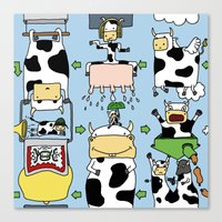 Canvas Print featuring Cow story by Mirko