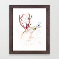 October Deer Framed Art Print