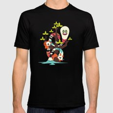 Fox Twins Mens Fitted Tee SMALL Black