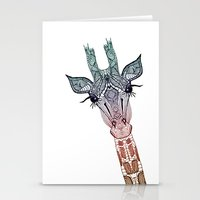 animal Stationery Cards featuring GiRAFFE by Monika Strigel