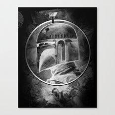 Boba Fett remix (negative) Canvas Print