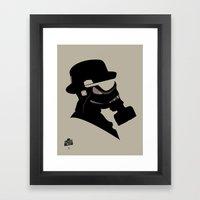 Storm Trooper Gas Mask  Framed Art Print
