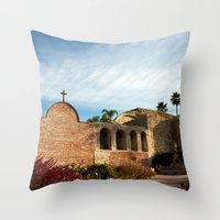 Man reaching out Throw Pillow