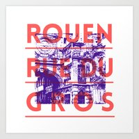 Rouen Rue Du Gros Art Print