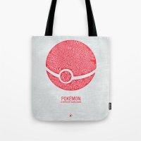 Pokemon Typography Tote Bag