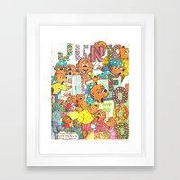 JUNK FOOD Framed Art Print