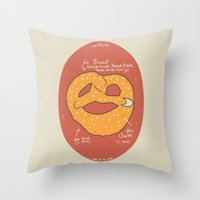 Die Brezel Throw Pillow