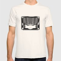 RadioSapo Mens Fitted Tee Natural SMALL