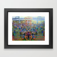 Edge luster/shine. Entwined notch curl and nestled tong squeeze. Framed Art Print