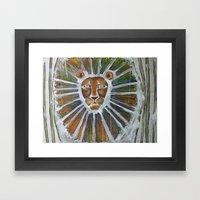 cage-free lion Framed Art Print