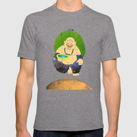 Total Peace Buddha Mens Fitted Tee Tri-Grey SMALL
