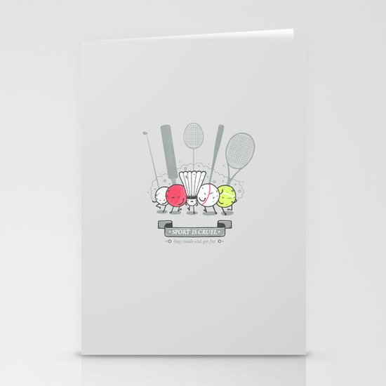 Sport is cruel Stationery Card
