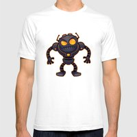 Angry Robot Mens Fitted Tee White SMALL