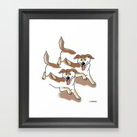 UNSTABLE HAPPY DOGS Framed Art Print