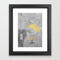 JULES et JIM Alternative Movie Poster Framed Art Print