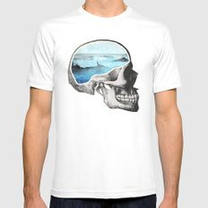Brain Waves Mens Fitted Tee White SMALL