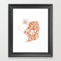Chico Sad Framed Art Print