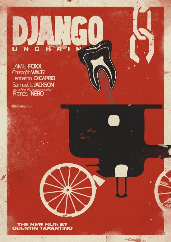 Django Unchained - Alternative movie poster Art Print