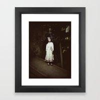 Ghost Girl Framed Art Print