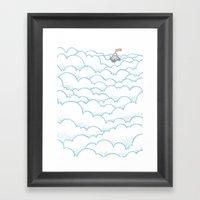 Peak Above The Clouds Framed Art Print