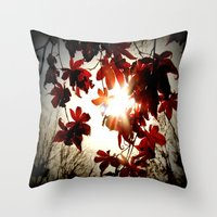 Autumn's Last Stand Throw Pillow