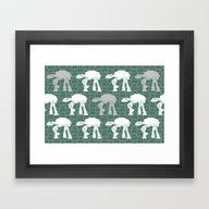 AT-AT's And Stormtrooper… Framed Art Print