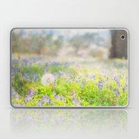 Little Spring Fling - Impressionist Macro Landscape with Violets and Dandelions Laptop & iPad Skin