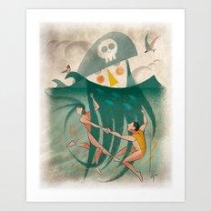 The Captain's Beard Art Print