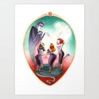 Sleeping Beauty, Mirror Art Print