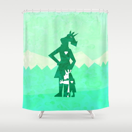 Happy Mother's Day Unicorn Shower Curtain