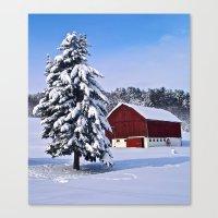 Peace Barn Winter Canvas Print
