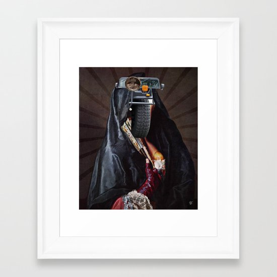 She´s tyred Framed Art Print