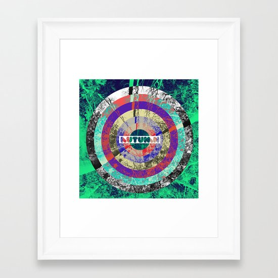 psychedelic autumn Framed Art Print