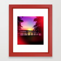 Warm Summer Nights at Dusk Framed Art Print