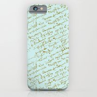 French Script on Paris Blue iPhone 6 Slim Case
